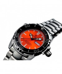 DEEP BLUE PRO AQUA 1500 DIVING WATCH AUTO DAY/DATE 45mm 1500m/5000ft WR ORANGE - PRO-AQUA 1500 - DEEP BLUE