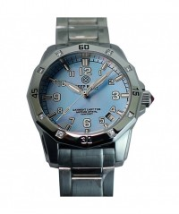 DEEP BLUE LADY BLUE T100 TRITIUM BLUE MOTHER OF PEARL DIAL 100m WR S/S BRACELET - DAYNIGHT LADIES TRITIUM - DEEP BLUE