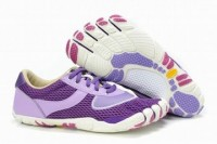 white and purple 5 fingers speed barefoot sneakers for women