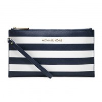 MICHAEL Michael Kors Bags Large Jet Set Striped Zip Pouch