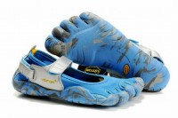 camo and blue 5 fingers sprint barefoot running shoes for lady