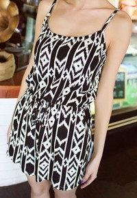 Geometric Pattern Spaghetti Strap Tank Top Jumpsuit Romper Shorts from amazingmall on Storenvy