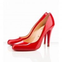decollete patent leather christian louboutin 868 red pumps 100