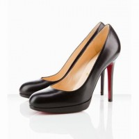 new simple christian louboutin leather heels black 120mm