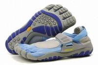 treksport vibram five fingers blue grey running women