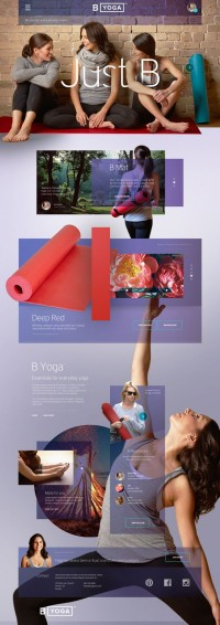 B Yoga Website : Post Launch Revisit v2 by John Speed | Inspiration DE