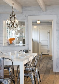 Puget Sound beach cabin - Eclectic - Dining Room - Seattle - Sam Van Fleet Photography