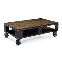 Magnussen Home T1755-43 brook Cocktail Coffee Table, Distressed Natural Pine - Floors and Surfaces