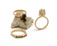 Crystal Alchemy: New precious rings by Tessa Blazey