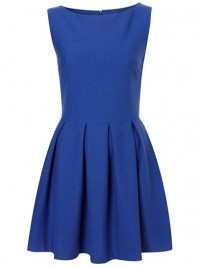 Topshop Structured Skater Dress: Jewel Tone Dresses for Prom: Style: teenvogue.com