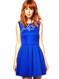 ASOS Black Neoprene Laser Cut Waisted Dress: Jewel Tone Dresses for Prom: Style: teenvogue.com