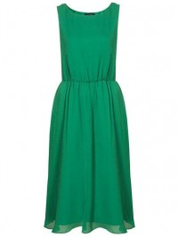 Topshop Silk Cute Skirted Midi Dress: Jewel Tone Dresses for Prom: Style: teenvogue.com