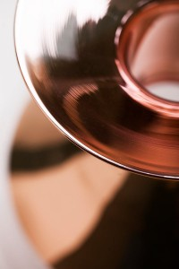 Tapio: Glass Vases with Copper Accents - Design Milk