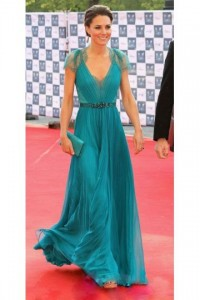 Chiffon A-line V-neck Princess Kate Celebrity Dress - ULOVEE