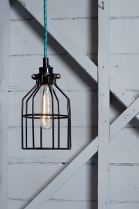 Industrial Pendant Lighting - Black Wire Cage Light | Industrial Light Electric hand crafted lighting, made to order, Industrial Modern Lighting, Vintage Industrial Style Lights with a Modern Design