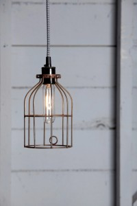 Industrial Pendant Lighting - Vintage Rusted Wire Cage Light | Industrial Light Electric hand crafted lighting, made to order, Industrial Modern Lighting, Vintage Industrial Style Lights with a Modern Design