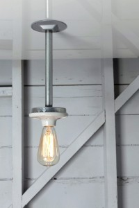 Pendant Pipe Light - Bare Bulb Lamp - Schoolhouse | Industrial Light Electric hand crafted lighting, made to order, Industrial Modern Lighting, Vintage Industrial Style Lights with a Modern Design