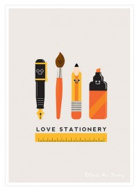 Love Stationery – illustration by bubi | Inspiration DE