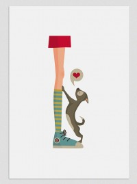 Illustration. Dog's Life Girl. Print A4. Wall by Tutticonfetti | Inspiration DE