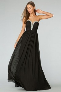 Sexy Sheath/Column Sweetheart Sleeveless Chiffon Formal Dress - ULOVEE