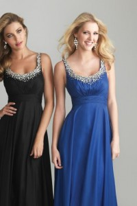 Chiffon Spaghetti Straps Sleeveless Formal / Evening Dress - ULOVEE