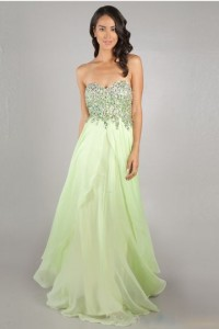 Sheath/Column Sweetheart Sleeveless Beading Chiffon Formal Dress - ULOVEE