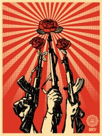 Here in my head... - art by Shepard Fairey