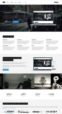 Weiss Joomla! Template on
