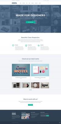 REEN - Made for Designers - Portfolio Template - FreebiesXpress
