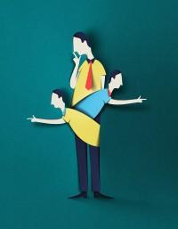 Digital Papercut Illustrations by Eiko Ojala | Colossal