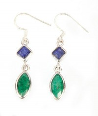 Sterling Silver Emerald Earrings by MidasCraft on Etsy