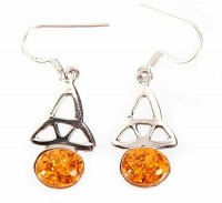 Sterling Silver Amber Earrings by MidasCraft on Etsy