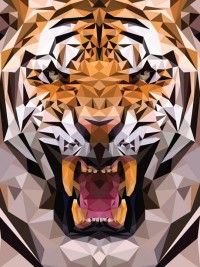 Geometric Tiger Made From Triangles – The Meta Picture | Inspiration DE