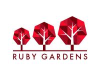 Ruby Gardens logo WIP by Katy Nemkovich