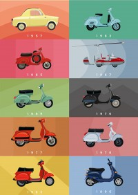 _Design / CJWHO ™ (Watch 60 Years of Chic Vespas Go By Now, Paris ...)