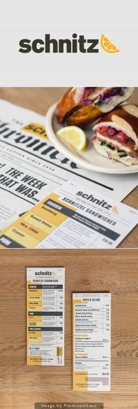 Schnitz menu design | Inspiration DE
