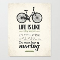 Life is like riding a bicycle wall art Stretched by NeueGraphic | Inspiration DE