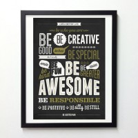 Motivational Typography Poster Be kind Be greater by NeueGraphic | Inspiration DE