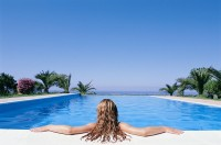 women swimming pools Wallpaper