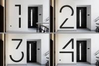 Bespoke floor numbers. Pic courtesy of Jack Hobhouse. | Inspiration DE