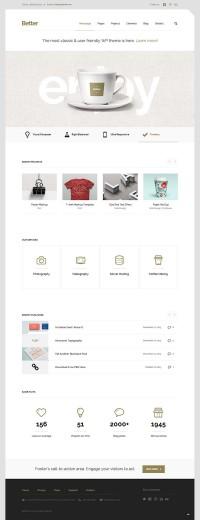Better – Minimalistic Business WordPress Theme by CreAtive Web Themes | Inspiration DE