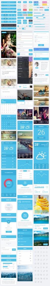 Flatastic Mobile UI Kit | Inspiration DE