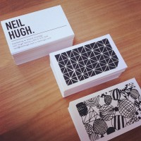 Hoorah! #neilhugh #businesscards #branding by @shelleykcox Web Instagram | Inspiration DE