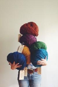 Empire yarn by Jill Draper Makes Stuff at Tolt Yarn and Wool in Carnation, WA. | Inspiration DE