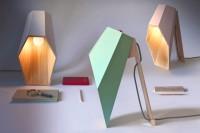 alessandro zambelli forms geometrical woodspot lamp