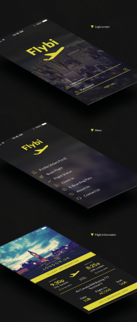Onewox Designs — Flybi iOS application template