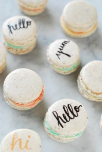 Edible Typography Macarons