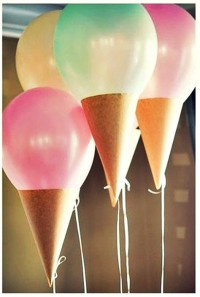 Ice cream balloons! | Home Decoration | Pinterest