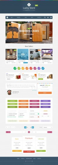 Lucky Store UI Free by PixelBuddha | Inspiration DE