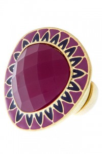 Purple and Navy Cocktail Ring by Olivia Taylor Fashion Boutique | Olivia Taylor